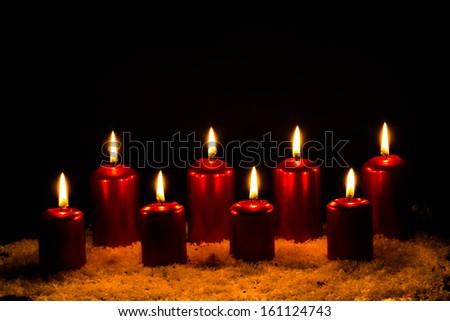 Candlelight Flame Celebration - stock photo