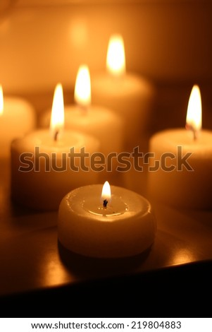 candlelight service - stock photo