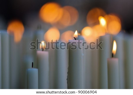 candlelights - stock photo
