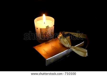 Candlelit Christmas - stock photo