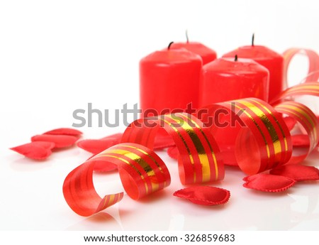 candles and serpentine - stock photo