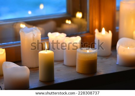 Candles light - stock photo