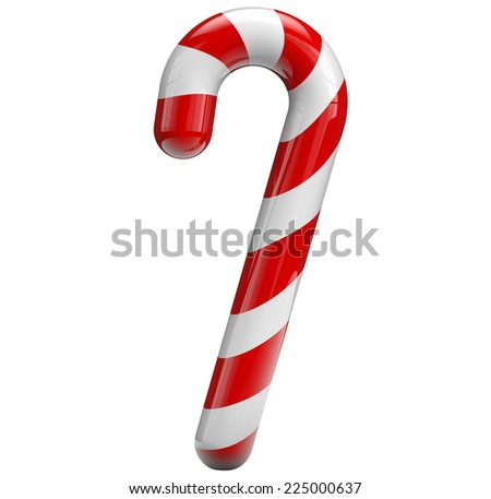 Candy cane isolated on white - stock photo