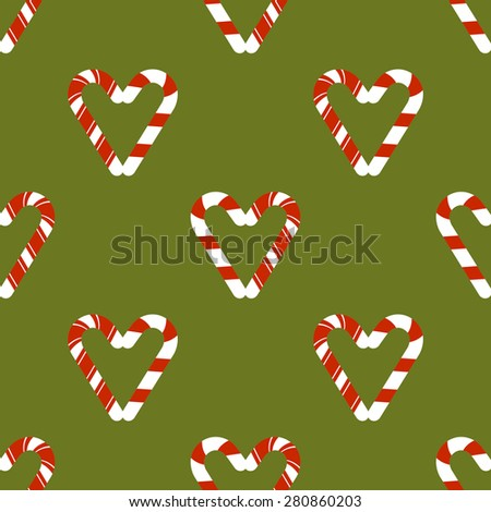 Candy cane seamless  - stock photo