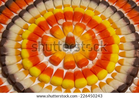 Candy Corn Circles - stock photo
