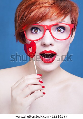 Candy girl - stock photo