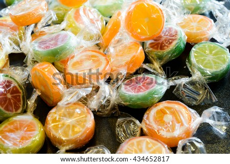 Candy lollipops - stock photo