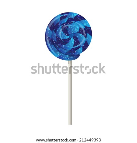 Candy on a stick, spinner, spiral on white background.  - stock photo