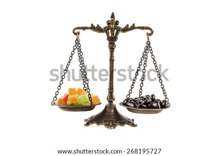 Candy scales - stock photo