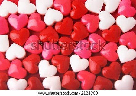 Candy Valentine's Hearts - stock photo