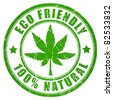 Cannabis eco friendly stamp - stock photo