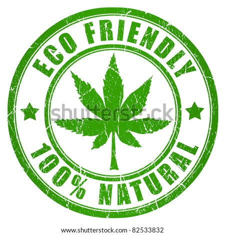 Cannabis eco friendly stamp - stock photo