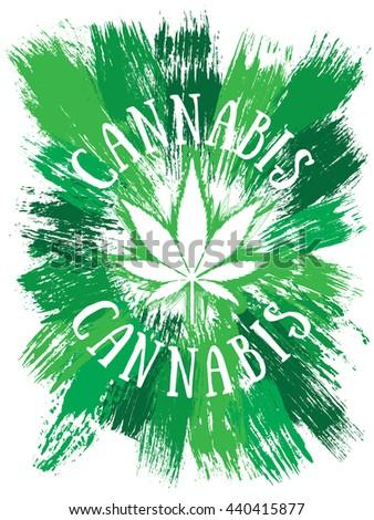 Cannabis leaf symbol design - stock photo
