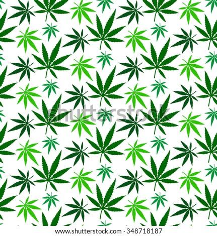 cannabis marijuana leaf seamless pattern jpeg version - stock photo