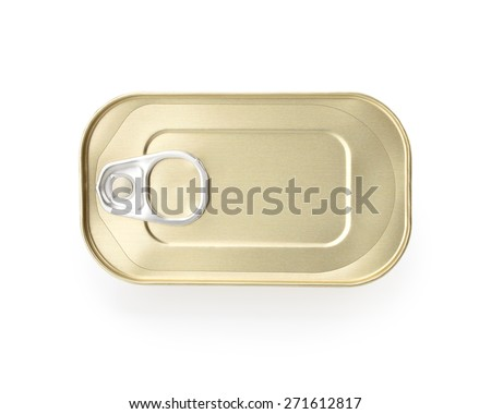 Canned food isolated on white background. This has clipping path. - stock photo