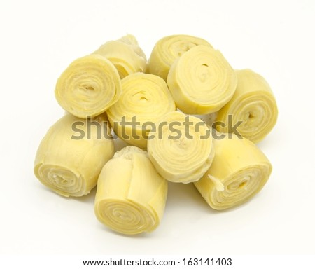 Canned natural artichokes - stock photo