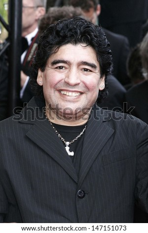 Cannes, France. Diego Maradona at the Closing Ceremony of the Cannes Film Festival. 21 May 2005 Lisle Brittain/Landmark Media - stock photo