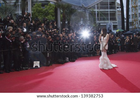 CANNES, FRANCE - MAY 18: A general view of atmosphere Palais des Festivals on during the 66th Annual Cannes Film Festival on May 18, 2013 in Cannes, France. - stock photo