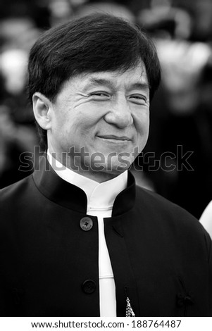 CANNES, FRANCE - MAY 17: Actor Jackie Chan attend the 'De Rouille et D'os' Premiere during the 65th Cannes Film Festival on May 17, 2012 in Cannes, France - stock photo