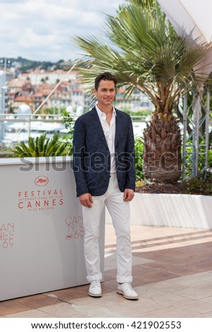 Cannes, France - 15 MAY 2016 - Actor Matt Bomer attends 'The Nice Guys (The Nice Guys-LA Detectives)' - Photocall at the annual 69th Cannes Film Festival at Palais des Festivals - stock photo