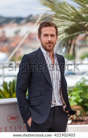 Cannes, France - 15 MAY 2016 - Actor Ryan Gosling attends 'The Nice Guys (The Nice Guys-LA Detectives)' - Photocall at the annual 69th Cannes Film Festival at Palais des Festivals - stock photo