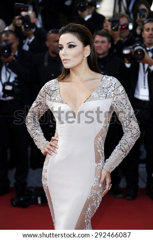 CANNES, FRANCE- MAY 18: Actress Eva Longoria attends the Premiere of 'Inside Out' during the 68th Cannes Film Festival on May 18, 2015 in Cannes, France. - stock photo