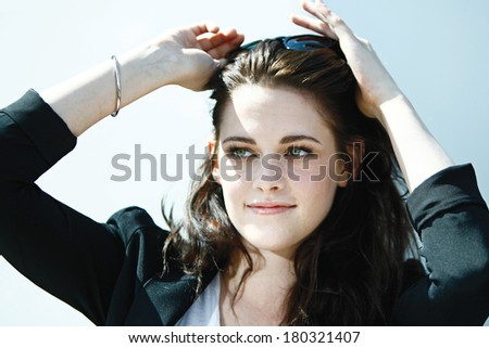 CANNES, FRANCE - MAY 23: Actress Kristen Stewart attends the 'On The Road' Photocall during the 65th Annual Cannes Film Festival at Palais des Festivals on May 23, 2012 in Cannes, France.  - stock photo