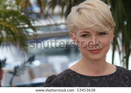 CANNES, FRANCE - MAY 18: Actress Michelle Williams attends the 'Blue Valentine' Photo Call held at the Palais des Festivals during the 63rd  Cannes Film Festival on May 18, 2010 in Cannes, France. - stock photo