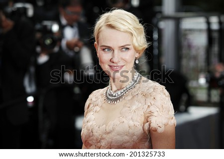 CANNES, FRANCE - MAY 18:  Actress Naomi Watts attends the screening of 'Madagascar 3'  at the 65th Cannes film festival on May 18, 2012 in Cannes. - stock photo