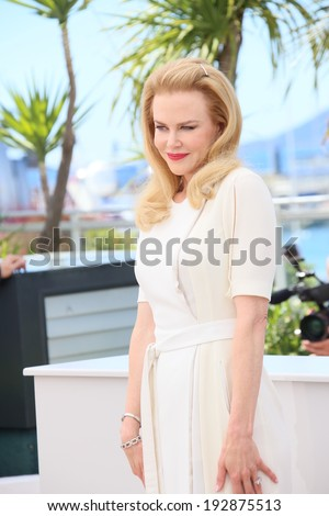 CANNES, FRANCE - MAY 14: Actress Nicole Kidman attends the 'Grace of Monaco' photocall during the 67th Annual Cannes Film Festival on May 14, 2014 in Cannes, France.  - stock photo
