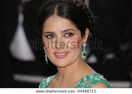 CANNES, FRANCE - MAY 18: Actress Salma Hayek attends the Indiana Jones  premiere at the Palais des Festivals during the 61st Cannes International Film Festival on May 18, 2008 in Cannes, France - stock photo
