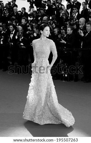 CANNES, FRANCE - MAY 25: Actress Zhang Ziyi arrives at 'Venus In Fur' Premiere during the 66th Cannes Film Festival on May 25, 2013 in Cannes, France. - stock photo