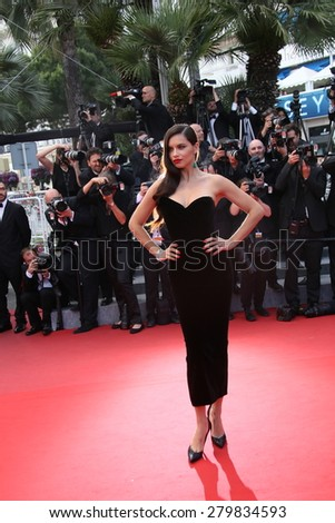 CANNES, FRANCE - MAY 19: Adriana Lima  attends the 'Sicario' premiere during the 68th annual Cannes Film Festival on May 19, 2015 in Cannes, France - stock photo