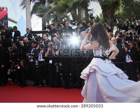 CANNES, FRANCE - MAY 20, 2015:  Aishwarya Rai  attends the 'Youth' Premiere during the 68th annual Cannes Film Festival on May 20, 2015 in Cannes, France. - stock photo
