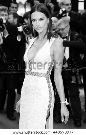 CANNES, FRANCE - MAY 18: Alessandra Ambrosio  attends 'The Unknown Girl' Premiere during the 69th Cannes Film Festival on May 18, 2016 in Cannes, France. - stock photo