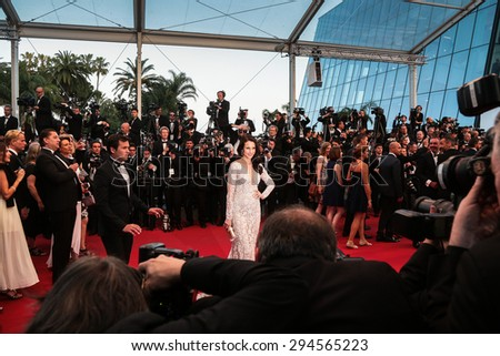 Cannes, France - May 16, 2015: Andie MacDowell attends the Premiere of 'The Sea Of Trees' during the 68th annual Cannes Film Festival on May 16, 2015 in Cannes, France. - stock photo
