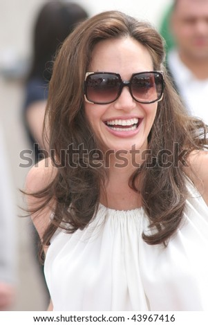 CANNES, FRANCE - MAY 15: Angelina Jolie attends the 'Kung Fu Panda' photocall at the Palais des Festivals during the 61st Cannes International Film Festival on May 15, 2008 in Cannes, France. - stock photo