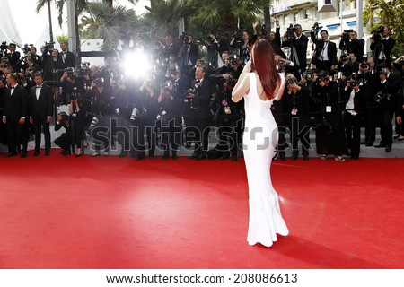 CANNES, FRANCE - MAY 21: Barbara Palvin attends 'The Search' Premiere during the 67th Cannes Film Festival on May 21, 2014 in Cannes, France. - stock photo