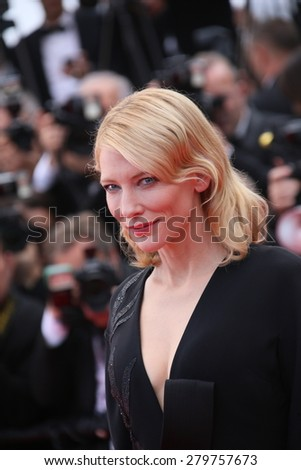 CANNES, FRANCE - MAY 19:  Cate Blanchett attends the 'Sicario' premiere during the 68th annual Cannes Film Festival on May 19, 2015 in Cannes, France - stock photo