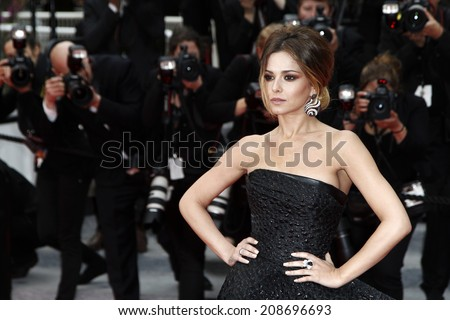 CANNES, FRANCE - MAY 19: Cheryl Cole attends the 'Foxcatcher' Premiere at the 67th Cannes Film Festival on May 19, 2014 in Cannes, France.  - stock photo