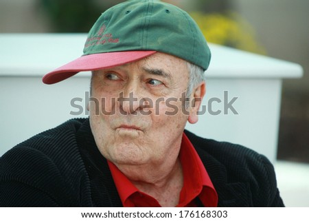 CANNES, FRANCE - MAY 11: Director Bernardo Bertolucci attends a photocall at the Palais des Festivals during the 64th Cannes Film Festival on May 11, 2011 in Cannes, France.  - stock photo