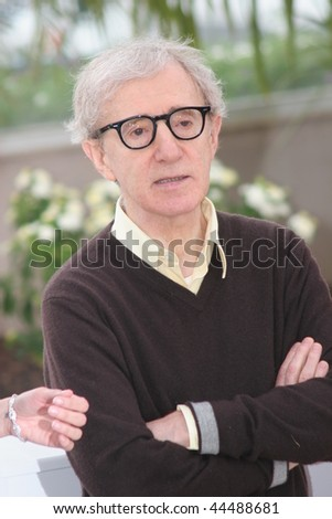 CANNES, FRANCE - MAY 17: Director Woody Allen attends the Vicky Christina Barcelona photocall at the Palais des Festivals during the 61st Cannes  Film Festival on May 17, 2008 in Cannes, France - stock photo
