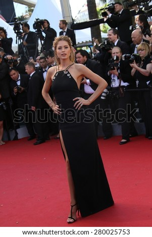CANNES, FRANCE - MAY 20, 2015: Doutzen Kroes attends the 'Youth' Premiere during the 68th annual Cannes Film Festival on May 20, 2015 in Cannes, France. - stock photo