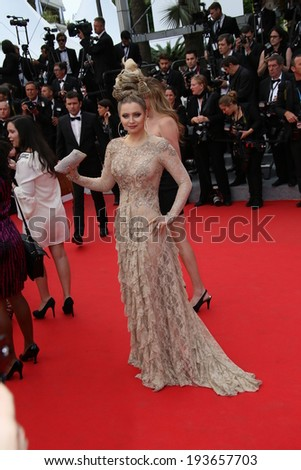 CANNES, FRANCE - MAY 16: Elena Lenina attends the 'How To Train Your Dragon 2' premiere during the 67th Annual Cannes Film Festival on May 16, 2014 in Cannes, France. - stock photo