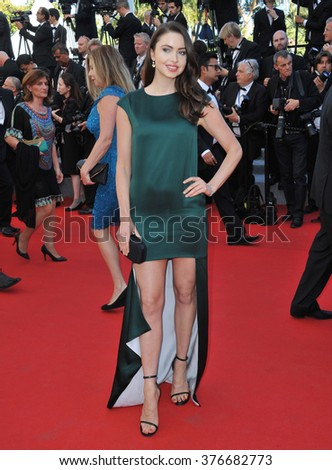 CANNES, FRANCE - MAY 24, 2014: Emma Miller at the gala awards ceremony at the 67th Festival de Cannes. - stock photo