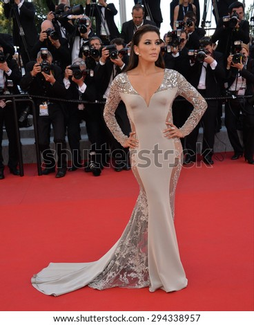 """CANNES, FRANCE - MAY 18, 2015: Eva Longoria at the gala premiere of Disney/Pixar's """"Inside Out"""" at the 68th Festival de Cannes. - stock photo"""
