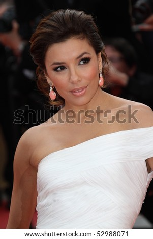 CANNES, FRANCE - MAY 12: Eva Longoria Parker attend the 'Robin Hood' Premiere at the Palais des Festivals during the 63rd Cannes Film Festival on May 12, 2010 in Cannes, France - stock photo