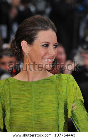 "CANNES, FRANCE - MAY 15, 2010: Evangeline Lilly at the premiere of Woody Allen's ""You Will Meet A Tall Dark Stranger"" at the 63rd Festival de Cannes. - stock photo"