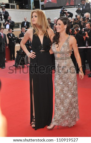 "CANNES, FRANCE - MAY 17, 2009: Evangeline Lilly & Doutzen Kroes (left) at the premiere of ""Vengeance"" in competition at the 62nd Festival de Cannes. - stock photo"