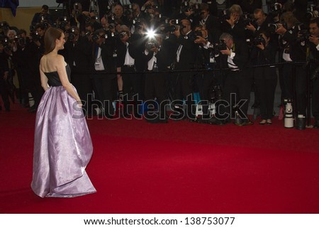 CANNES, FRANCE - MAY 15:  Guest 'The Great Gatsby' Premiere during the 66th Annual Cannes Film Festival at the Theatre Lumiere on May 15, 2013 in Cannes, France. - stock photo